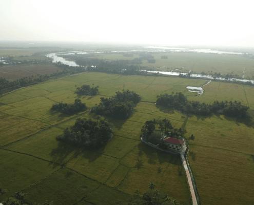aerial view ayurvedic center